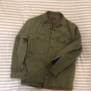 J. Crew Lined Military Green Jacket